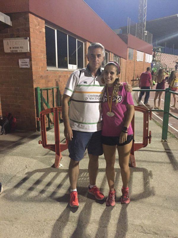 Marta y su entrenador Uriel